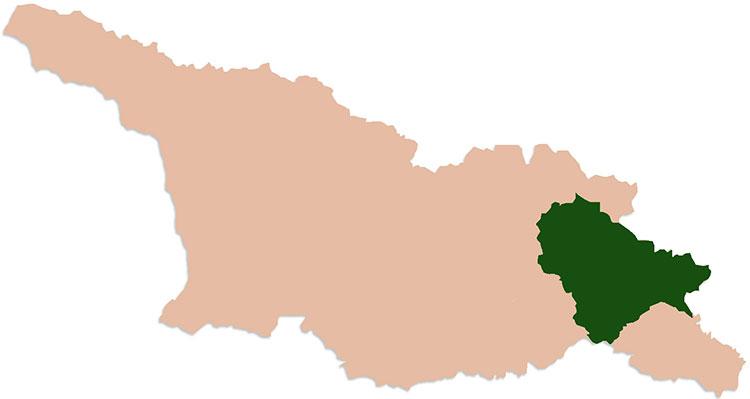 kaart georgie kachetie