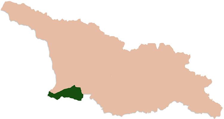 kaart Georgie Adjara